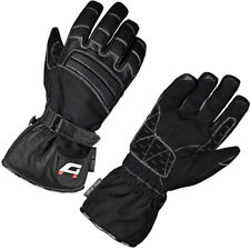Akito Metro Leather Textile Mix Waterproof Motorcycle Gloves Black - MEDIUM