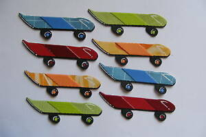 Skateboard Skate Boards Active Outside Sport Competition Die Cut (Card Toppers)