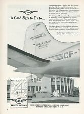 1951 Esso Fuel Aviation Ad Montreal Airport TCA Trans Canada Airlines Skyliner