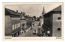Langestraat Enschede - Photo Postcard c1953