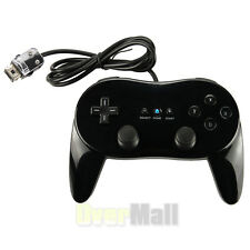 Black Pro Classic Game Controller Remote For Nintendo Wii