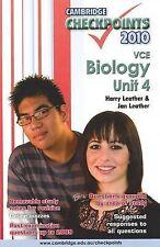Cambridge Checkpoints VCE Biology Unit 4 Harry Leather & Jan Leather  2010