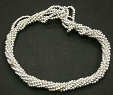 Twist A Beads Genuine 1980's Original Necklace 32-35 inch strands-SILVER BEADS