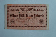 Deutsche Reichsbahn 1 Million Mark Berlin 12.8.1923 Gutschein Germany (2359)