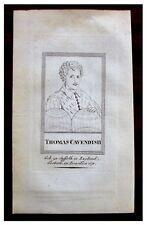 1800s Portrait Engraving - THOMAS CAVENDISH - DE