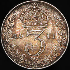 More details for 1911 | george v threepence | silver | coins | km coins