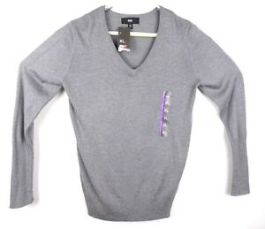 Mossimo Mens Size XL Gray V Neck Long Sleeve Casual Sweater NWT