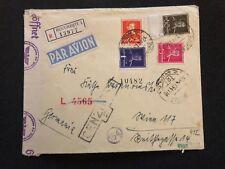 R Cover Romania Bucuresti Wien Censor WW2 par avion 1941 censura