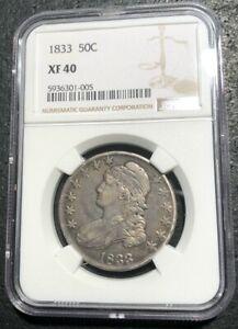 1833 50C Bust Half Dollar NGC XF 40