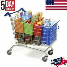 Reusable Foldable Supermarket Shopping Cart Trolly Grocery Bags Organizer 4PCS