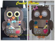Crochet pattern-owl trésor organisateur