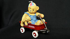 NEW 1999 Original Radio Flyer Bear Red Wagon Model Collectible Home Decoration
