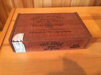 ROCKY PATEL THE EDGE Gran Robusto Empty WOODEN CIGAR BOX Slowly AGED 5 YEARS