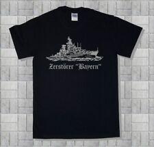 Marine-Shirt  Zerstörer Bayern, Hessen, Hamburg, Schleswig Holstein, Baumwolle