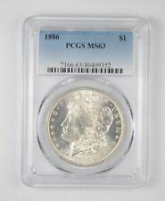MS63 GRADED - 1886 Morgan Silver Dollar- PCGS *023