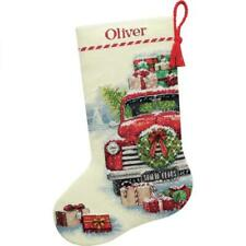 Dimensions Santas Truck Farm House Christmas Cross Stitch Stocking Kit