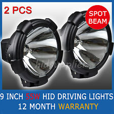 "Pair 9"" 55W HID XENON DRIVING LIGHTS OFF ROAD 50W 9 INCH SPOTLIGHT 4WD UTE VAN"
