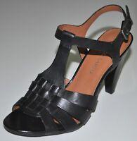 0bca91be410 Franco Sarto Size 9M Women s Black Leather Upper High Heels Shoes Anton  Open Toe