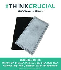 2 Replacements Drinkwell 2-Chamber Charcoal Filters