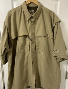 Drake Mens Waterfowl Systems Vented Fishing Short Sleeve Shirt 3XL