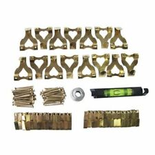 117pc Picture Hanging Kit Mirror Photo Frame Brass Hooks Nail Level Wire