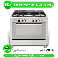 Emilia DI965MVI4 Freestanding 900MM Stainless Steel Cooker W Fan Assisted Oven