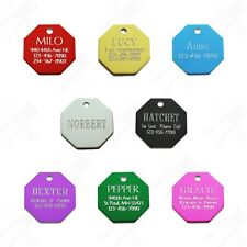 Custom Engraved Aluminum Stop Sign Pet Id Tag Dog Cat Tag Charm