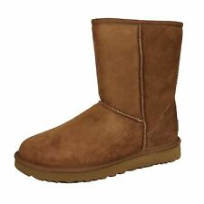 UGG CLASSIC SHORT II WOMENS CHESTNUT TWINFACE SUEDE AND SHEEPSKIN BOOTS