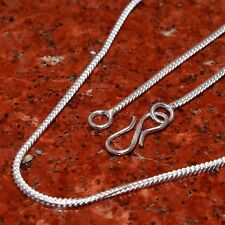 For Gift !! 20 PCs. Bright Fish Hook 925 Sterling Silver Plated Necklace Chain
