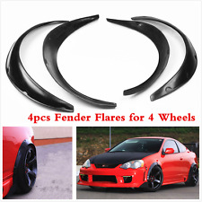 4Pcs Car Black Kits Fender Flares Flexible Fender Durable Guard Polyurethane