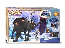 Disney Eiskönigin '4 Stück Holz Tablett' 4 X 24 Teile Puzzel Mit Tablett