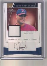 2004 Flair Albert Pujols Cuts and Glory Jersey Auto Autograph #/50
