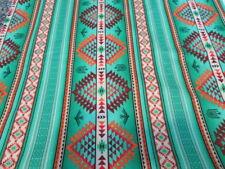 Navajo Stripes Diamond Dream Catchers Phoenix Mint Green Orange Cotton Fabric FQ