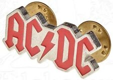 AC/DC - Lapel Pin Badge - Pewter - UK Import - Red Logo - NEW in Plastic