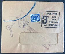 1967 Dublin Ireland Postage due Window Cover Return To Sender