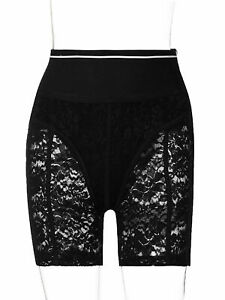 Women High Waist Tummy Control Shorts Safety Shorts Floral Lace Under Shorts