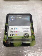 HP 564  3 COLOR COMBO PACKS  CYAN, MAGENTA YELLOW