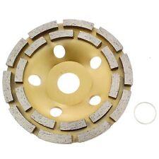 "4"" inch  Double Row Diamond Grinding Cup Wheel Disc Arbor 3/4""-5/8"" Abrasive"