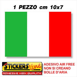 * Adesivo BANDIERA ITALIANA cm10x7 adesivi bandiera italiana tricolore ITALIA