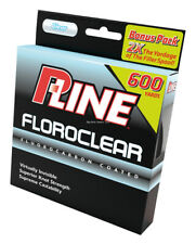NEW P-Line Floroclear Fluorocarbon Coated Mono 600YD 10Lb Clear FCCBF-10