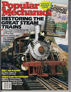 """Popular Electronics 1989 Magazine """"RESTORING THE GREAT STEAM TRAINS"""" double issu"""