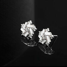 Classic Windmill Ear Stud Vintage Jewelry Silver Plated Fashion Earrings