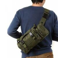 Tactical Backpack Outdoor Military Waist Pack Molle Camping Pouch Chest Bags