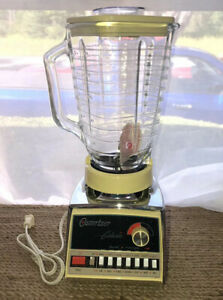 Oster Osterizer Galaxie 14-Speed Blender Harvest Gold & Chrome WORKS GREAT 1984