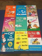 M38- BIG LOT OF 9 BEGINNER HARDBACK BOOKS Cat In Hat, 1 Fish, 2 Fish  & more