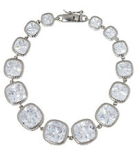 Sterling Silver Cushion Cut Cubic Zirconia Bracelet