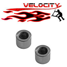 2 X STUNT SCOOTER SKATE SKATEBOARD METAL CORE WHEEL AXLE SPACERS 10MM CLAMP FORK