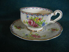 Royal Albert Petit Point Unusual Shape Demitasse Cup and Saucer Set