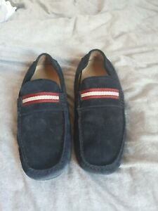 Bally mens blue seude loafers size UK11