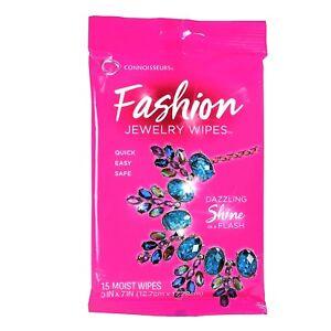 Lingettes nettoyante pour Bijoux fantaisie. Connoisseurs Fashion Wipes.